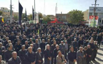 تجمع بزرگ سینه زنان تاسوعای حسینی در شهر بهار